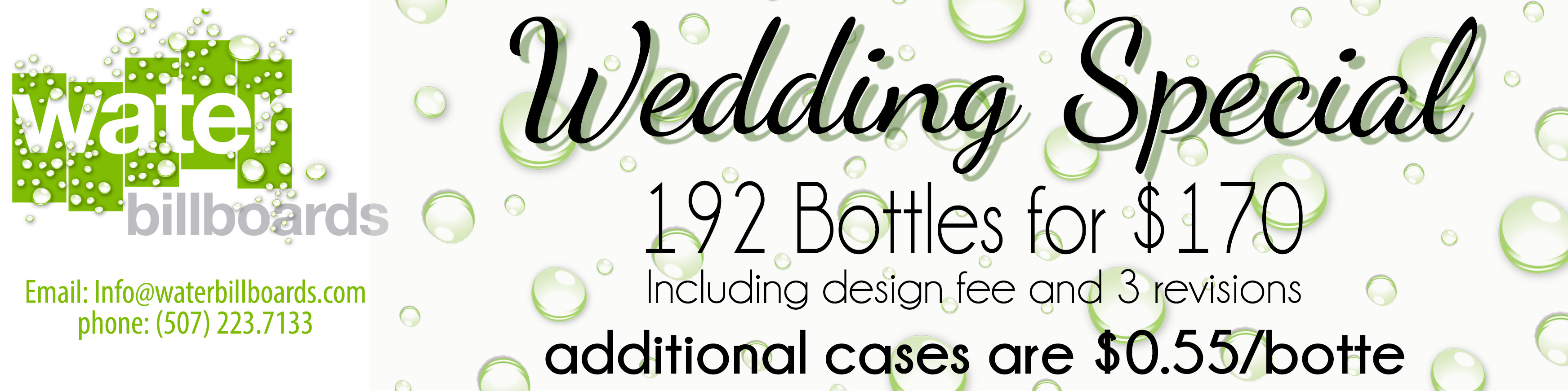 Wedding Special banner